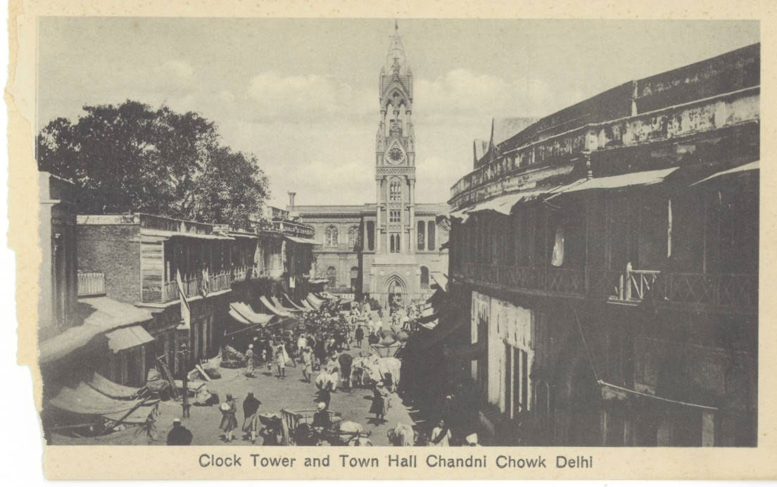 Clock Tower and Town Hall at Chandni Chowk in Delhi