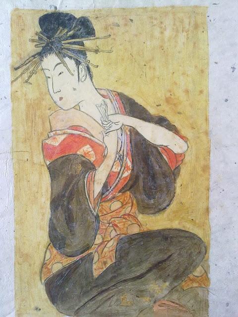 mujer japonesa ukiyo e