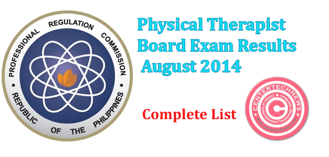 Physical Therapist Board Exam Results August 2014
