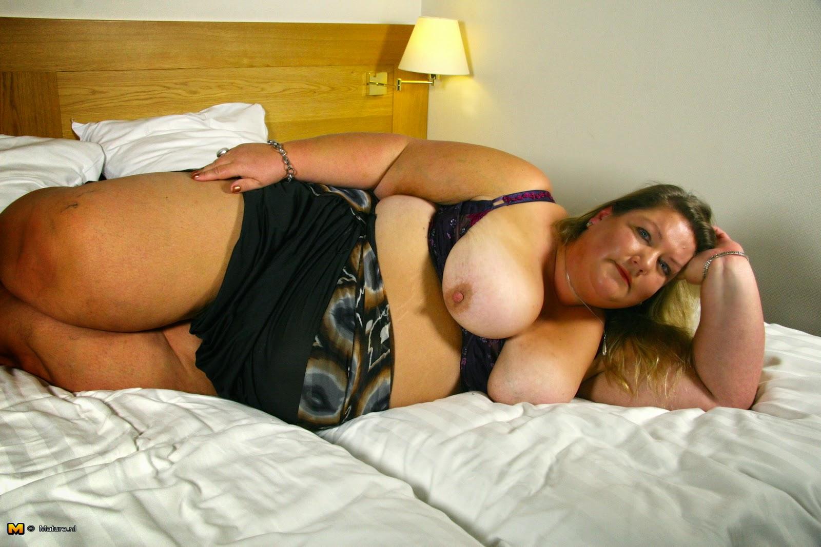 half naked thick woman