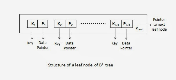 Structure of a leaf node of B+ tree