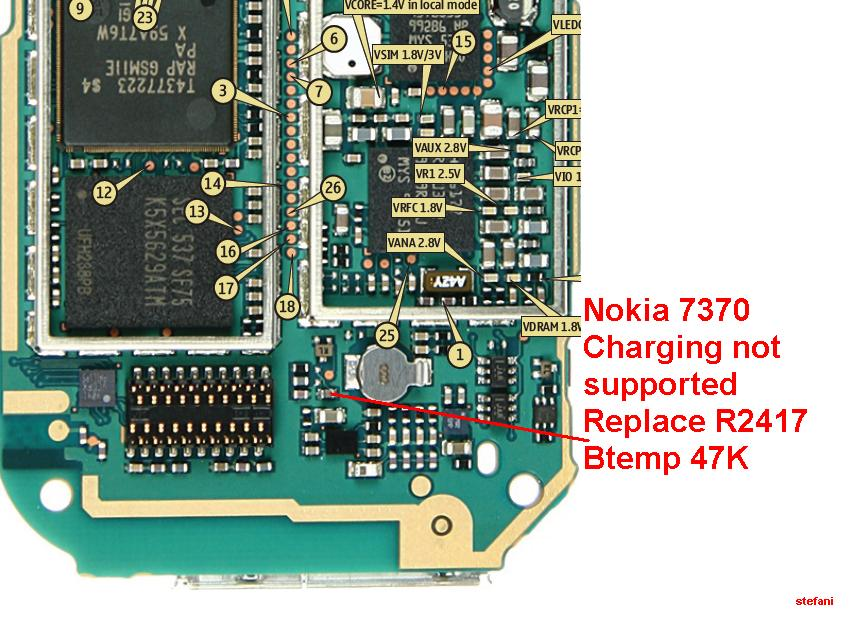Nokia 7370 Charging not supported