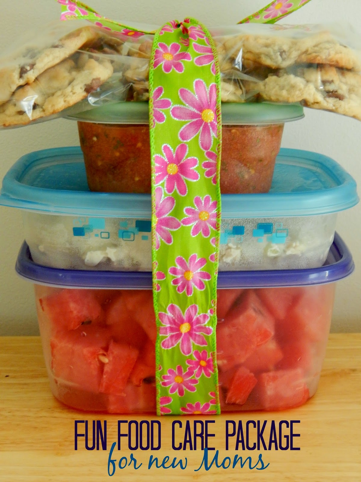fun food care package for new moms