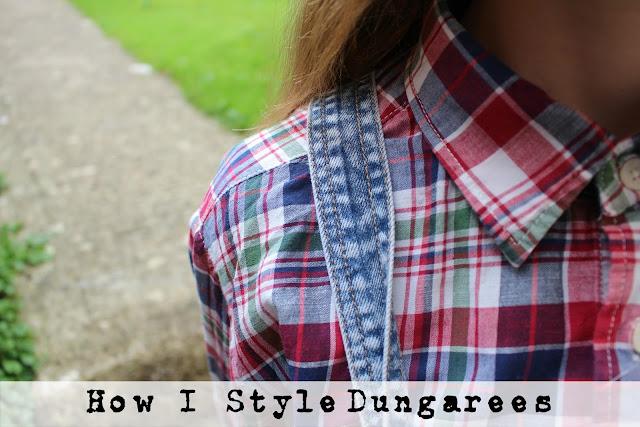 How I Style | Dungarees fashion blogger plaid primark