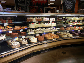 The cake selection at Whole Foods in Austin, TX