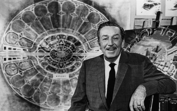 Walt Disney in the EPCOT film.