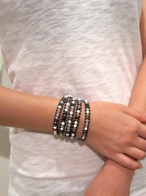 DIY Bracelet: Grey Mix 5 Wrap On Sippa Leather