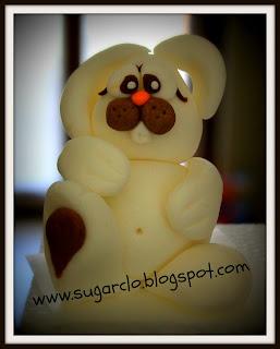 tutorial coniglietto di pasqua in pasta di zucchero