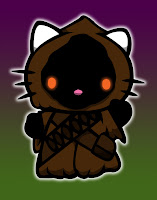 Hello Kitty in Jawa costume