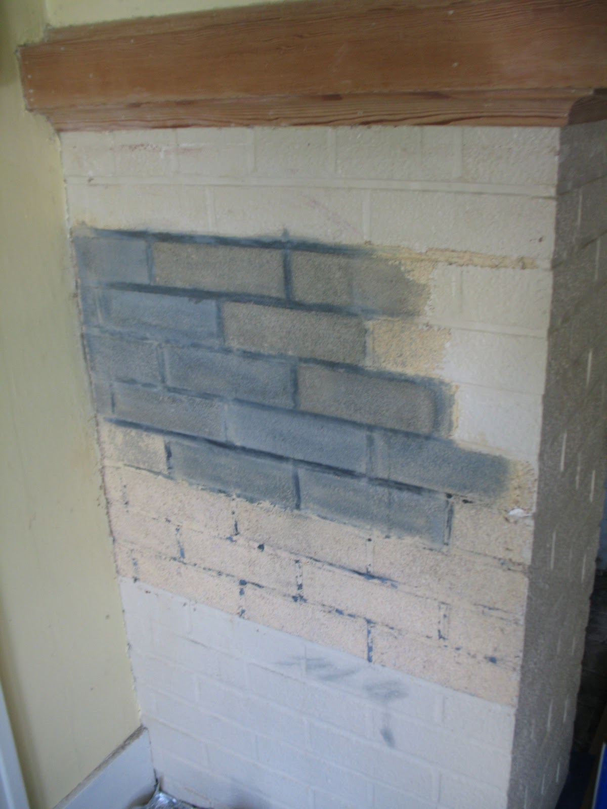 Northeast portland bungalow stripping the fireplace for Stripping paint from brick exterior