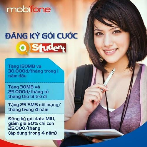 Đăng ký gói 3G MIUSV của Mobifone