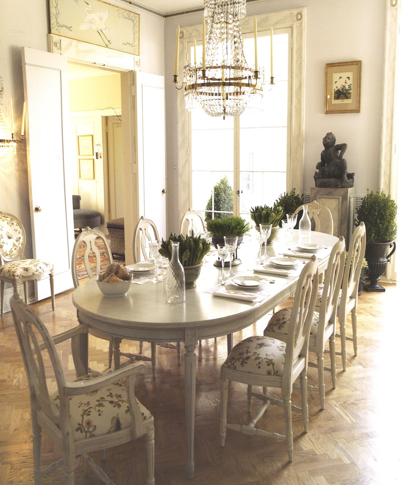 The Dining Table Comes From My Favorite Source For Reproduction Gustavian Furniture Country Swedish Painted Cupboard Was Inherited It Belonged To