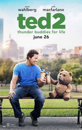 Poster Of Ted 2 2015 In Hindi Dual Audio Bluray 720P Free Download