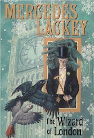 Hardback book cover of The Wizard of London by Mercedes Lackey