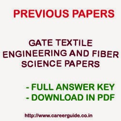Download Previous Year Papers of GATE Textile Engineering and Fiber Science