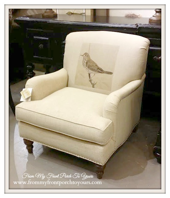Laurie's Home Furnishings-Bird Graphic Chair- From My Front Porch To Yours