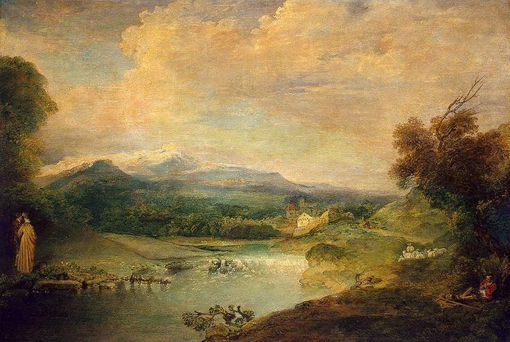 Paysage à la cascade - Watteau