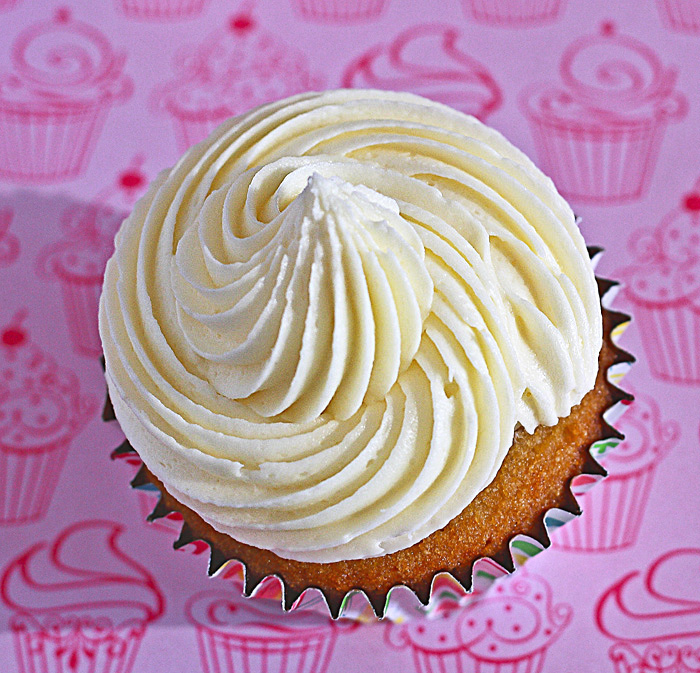 Lemon Drop: Vanilla Cupcakes with Lemon Curd Buttercream