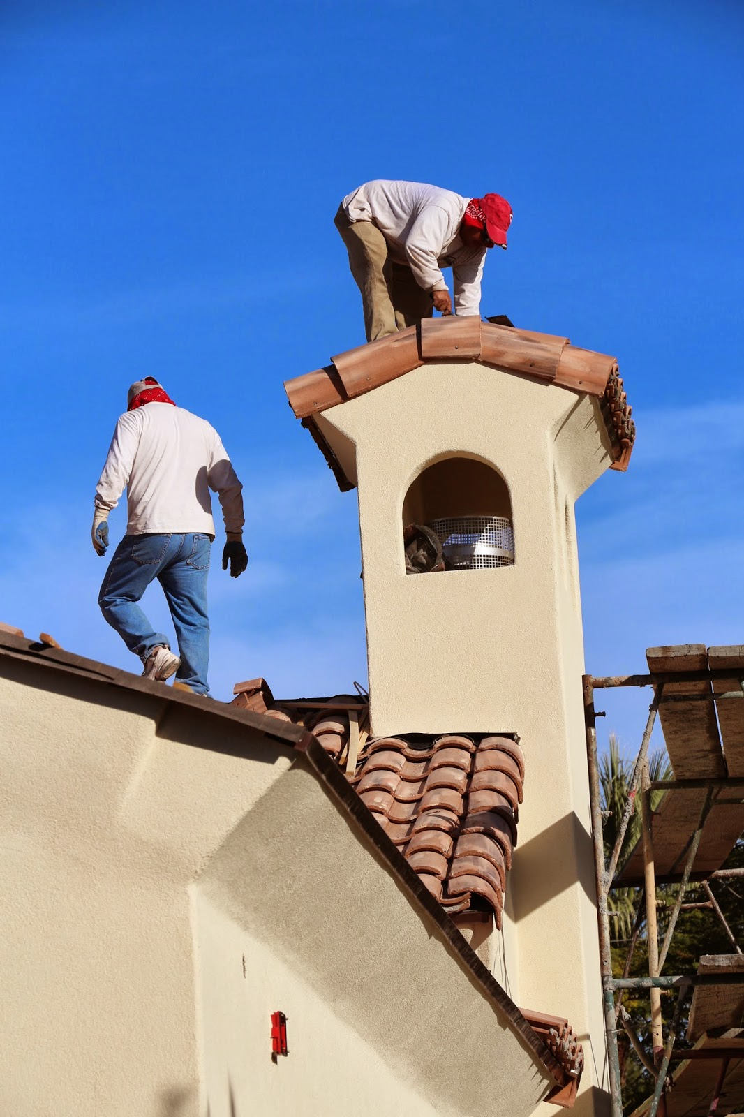 spanish style chimney top