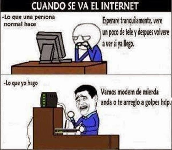 Cuando se va el internet