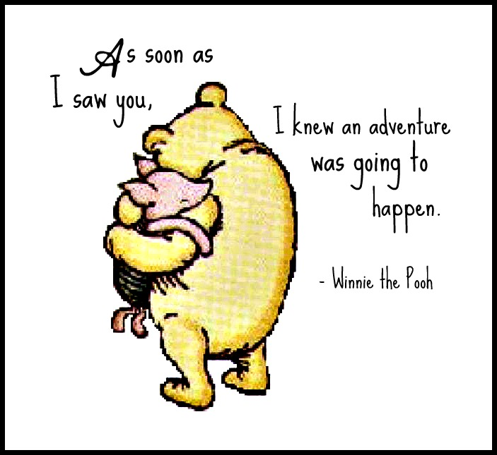 Winnie the Pooh Quotes set of 4 printable 5x7 by SaturdayDesigns ...