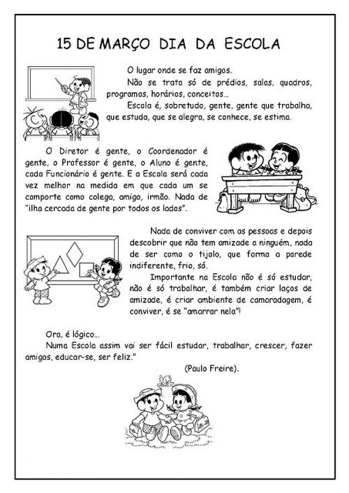Populares Atividades da tia: DIA DA ESCOLA ATIVIDADES DESENHOS EXERCÍCIOS  ZD84