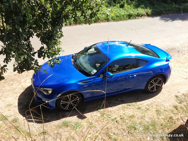 Subaru BRZ in WR Blue