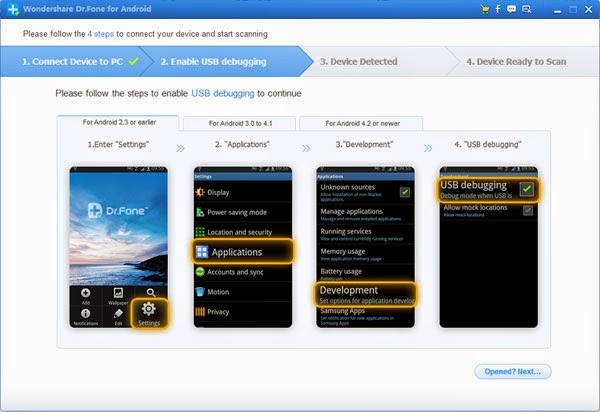 Wondershare Dr.Fone for Android V4.8 latest