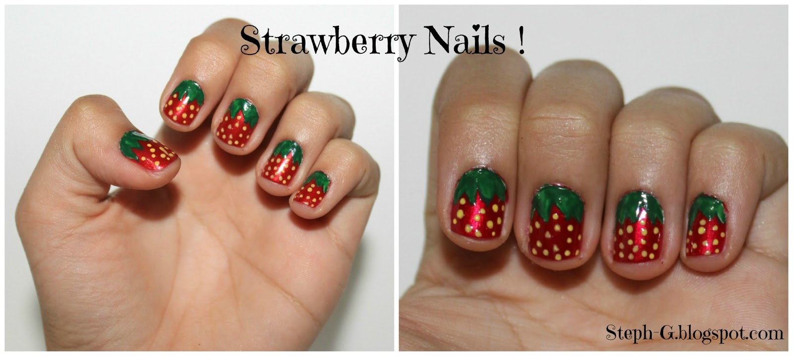 Steph G Nail Polishness Strawberry Nails With Step By Step Guide