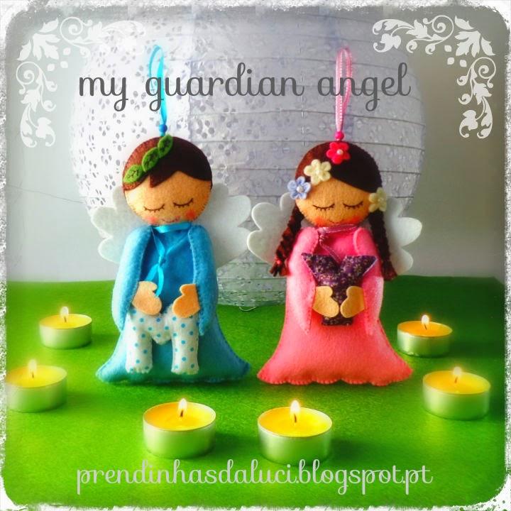 anjinhos em feltro guardian angel felt