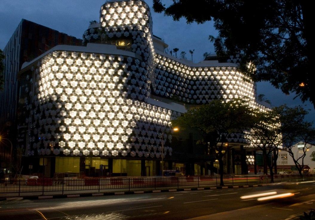 location austria building facade lighting