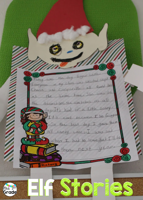 Students write about their adventure with their elf!!