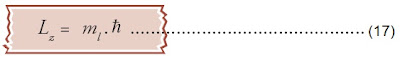 nilai bilangan kuantum orbital dalam arah z
