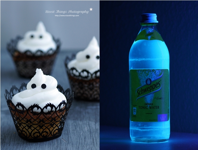 Glow In The Dark Cupcakes Halloween Geister Cupcakes Tonic Water