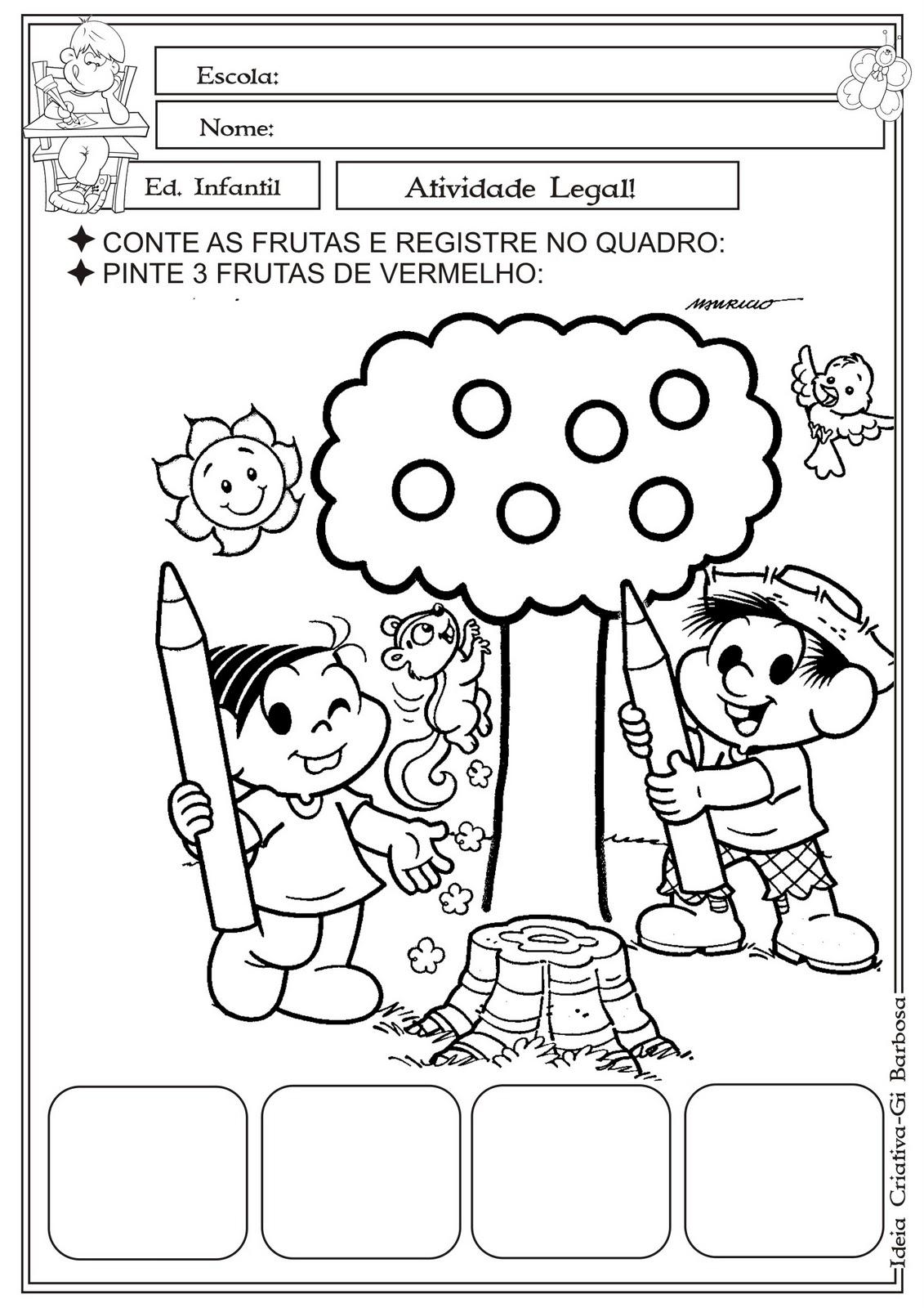 Amado Atividade Matemática Educação Infantil Turma da Mônica Contando as  ZH02