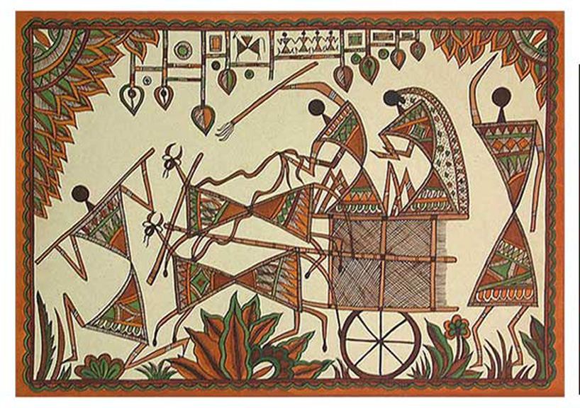 Indian art warli art maharashtra home and decoration image source click here altavistaventures Image collections