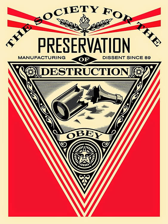"Obey Giant ""Society of Destruction"" Screen Print by Shepard Fairey"