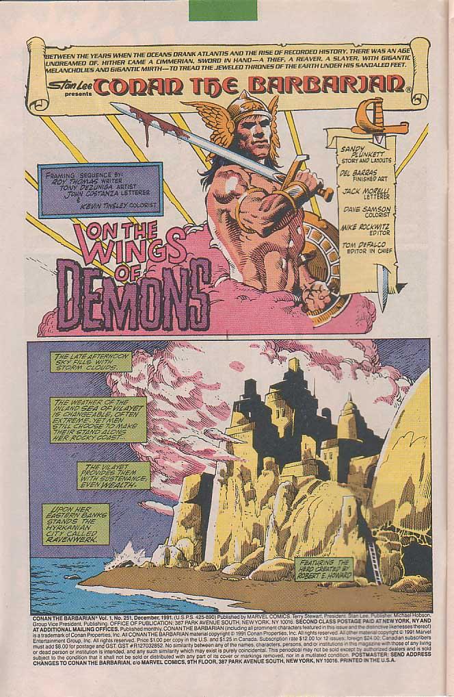 Conan the Barbarian (1970) Issue #251 #263 - English 3