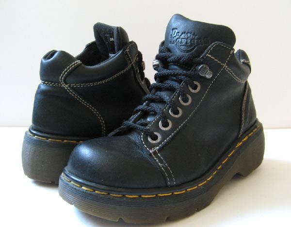 closet dr doc martens black leather ankle boots