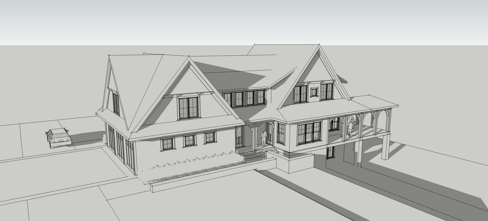 Our Design Work Always Begins With Plan Sketches And 3d Massing Studies. A  3d Model Beats Exterior Elevation Sketches Every Time When Trying To  Communicate ...