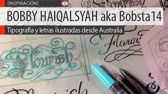 Tipografía y letras ilustradas de Bobsta14