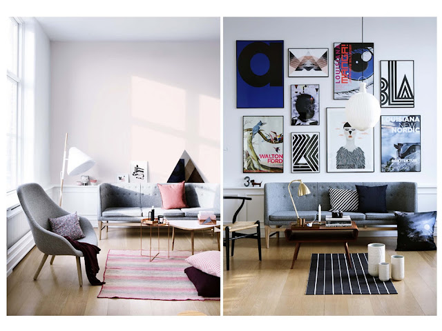 mid-century modern danish design sofa