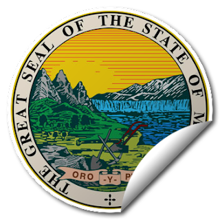 Sticker of Montana Seal