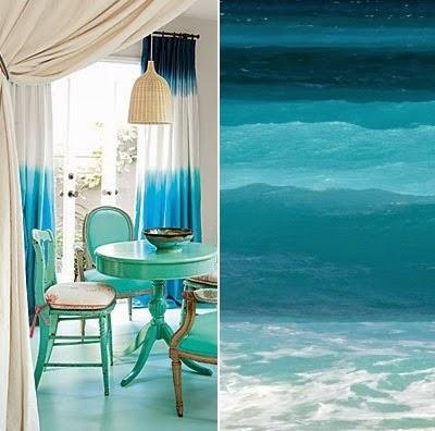 dip dye curtains blue