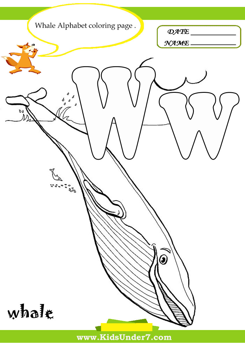 Letter W Worksheets And Coloring Pages