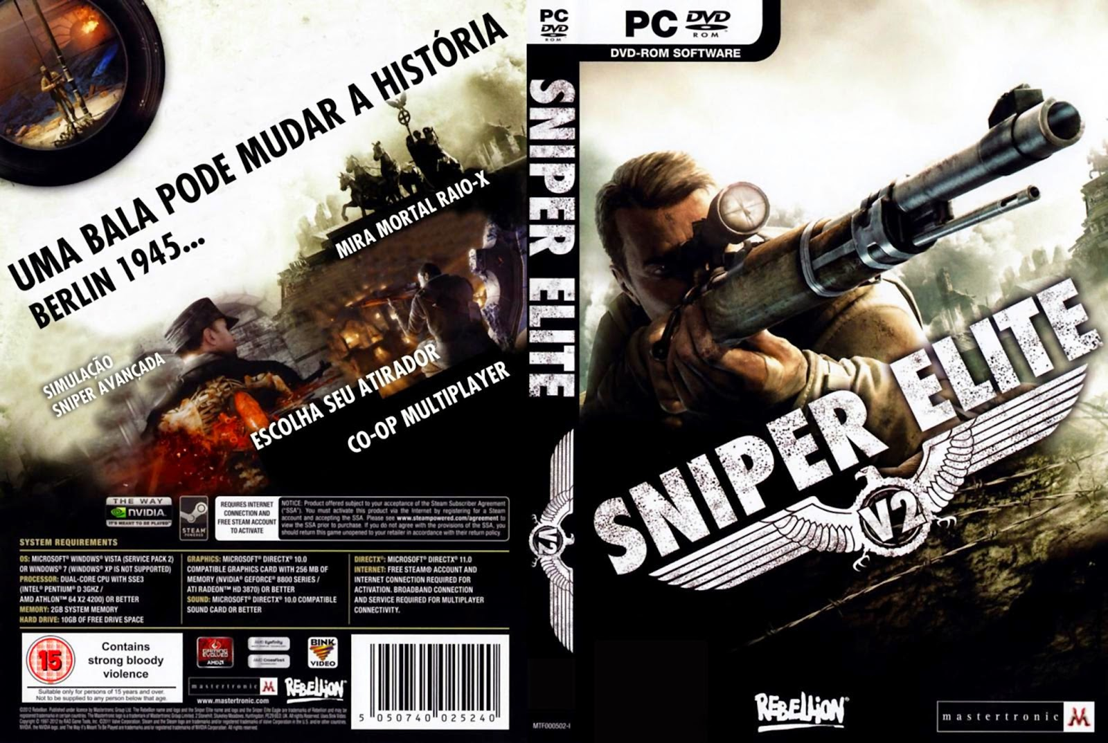 Sniper Elite V2 pc capa