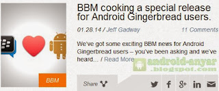 Official BBM for Android Gingerbread .apk