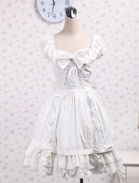 White Lace amd Ruffle Sweet Lolita Dress