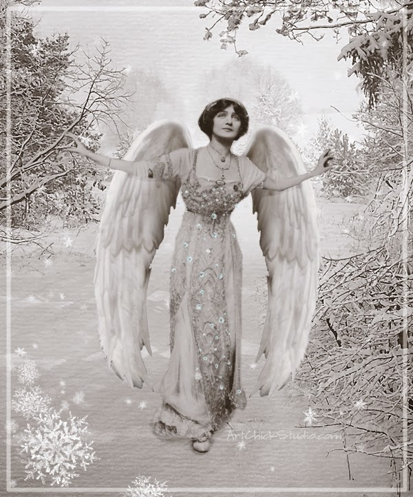 Snow Angel Digital Collage