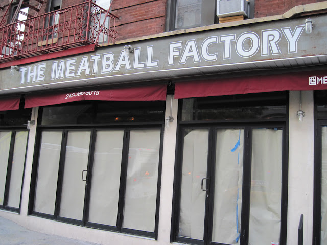 The Meatball Factory shuttered it's doors disappointing those dining in New York